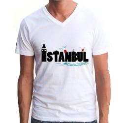 - İstanbul Temalı Erkek Tişörtü