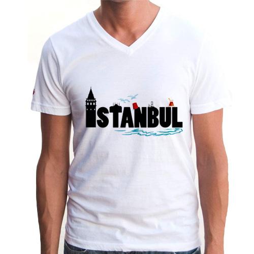 İstanbul Temalı Erkek Tişörtü