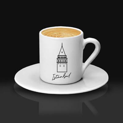 - İstanbul Temalı Kahve Fincanı
