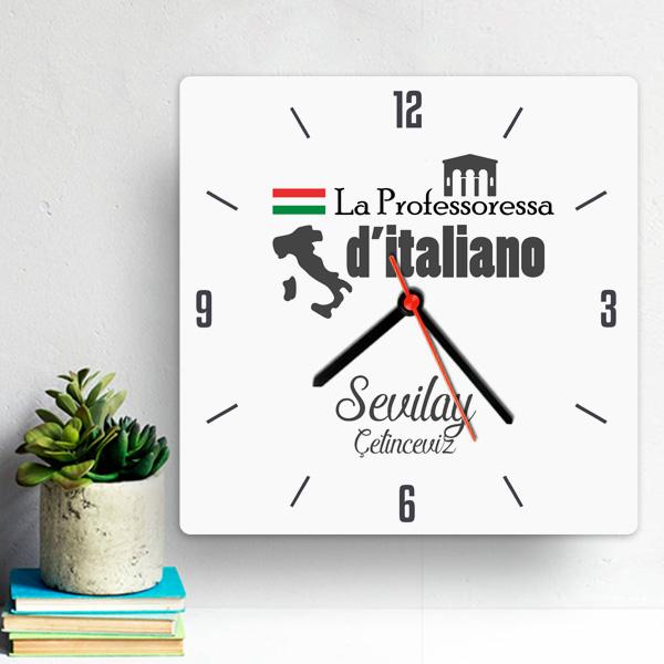 İtalyanca Öğretmenine Hediye Duvar Saati