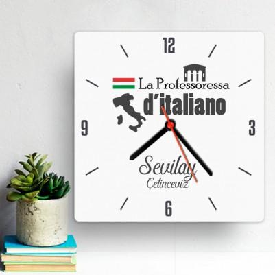 - İtalyanca Öğretmenine Hediye Duvar Saati