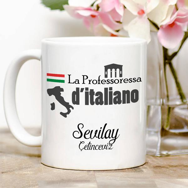 İtalyanca Öğretmenine Hediye Kupa Bardak