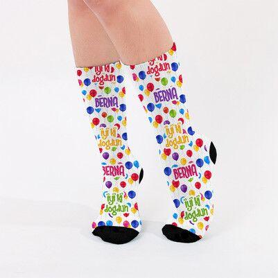 İyi Ki Doğdun İsme Özel Kadın Çorabı - Thumbnail