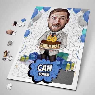 - İyi Ki Doğdun Karikatürlü Puzzle