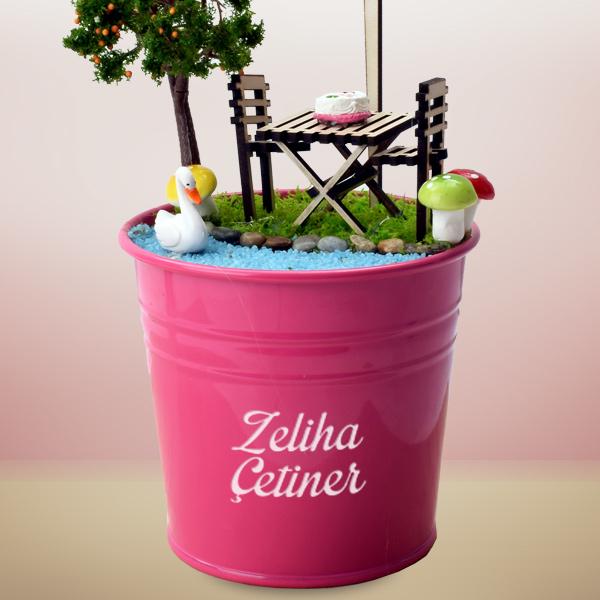 İyi ki Doğdun Mesajlı Minyatür Bahçe