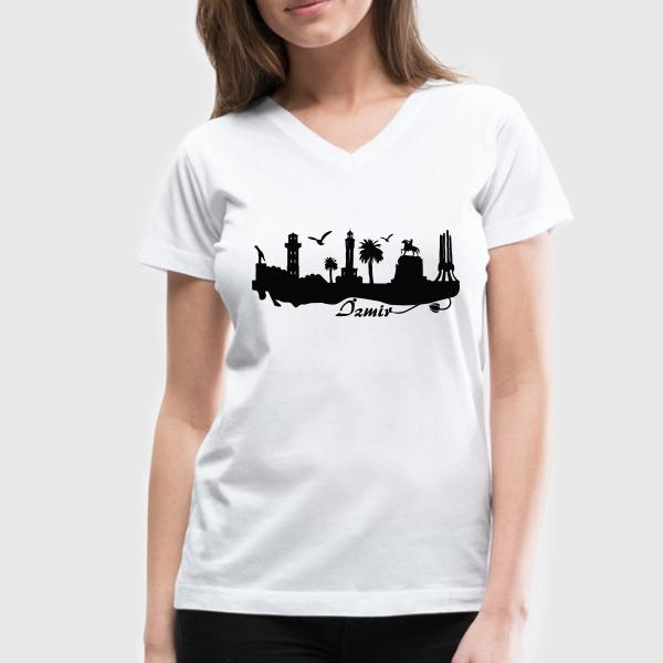 İzmir Baskılı Tişört Bayanlara Özel