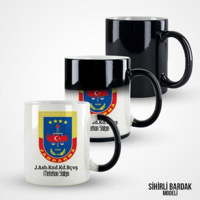 Jandarma Armalı İsme Özel Kupa Bardak - Thumbnail