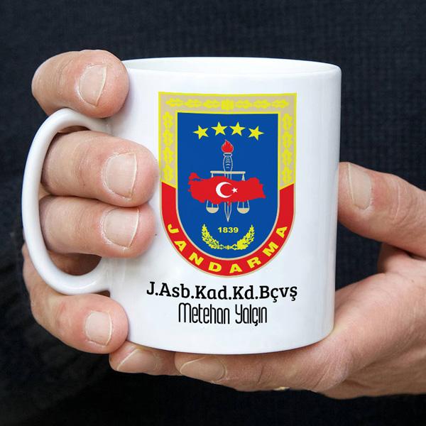 Jandarma Armalı İsme Özel Kupa Bardak