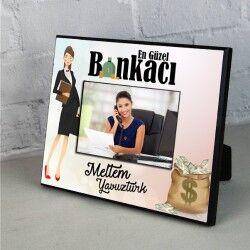 - Kadın Bankacılara Hediye Resim Çerçevesi