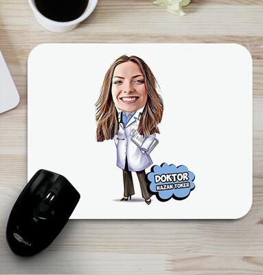 - Kadın Doktor Karikatürlü Esprili Mousepad