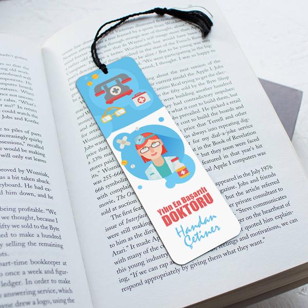 Kadın Doktora Hediye Kitap Ayracı