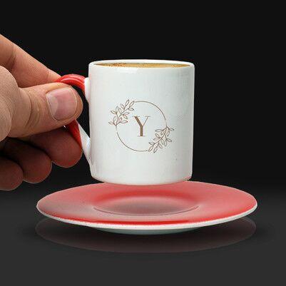 Kadına Doğum Günü Hediyesi Harfli Kahve Fincanı - Thumbnail