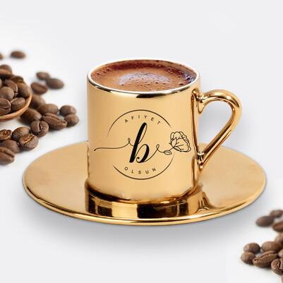 - Kadına Hediye Gold Kahve Fincanı