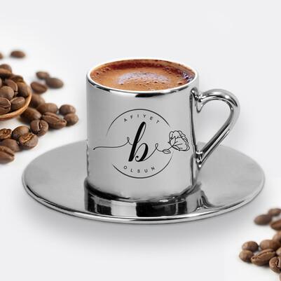 - Kadına Hediye Silver Kahve Fincanı