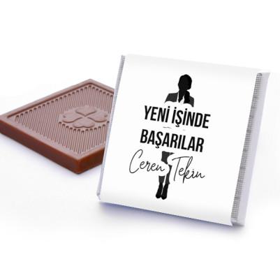 Kadına Yeni İşinde Başarılar Çikolatası - Thumbnail