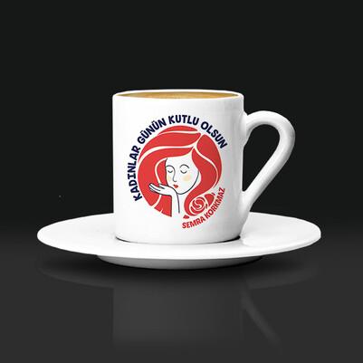- Kadınlar Günü Dileği İsimli Kahve Fincanı