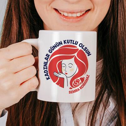 - Kadınlar Günü Dileği İsimli Kupa Bardak