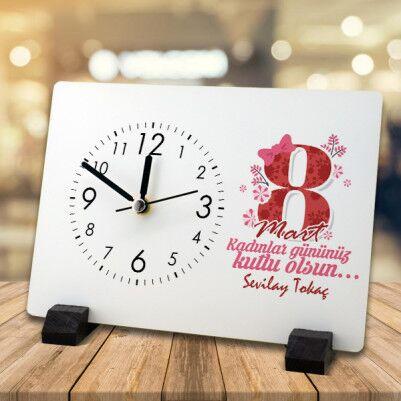 - Kadınlar Günü Hediyesi Masa Saati