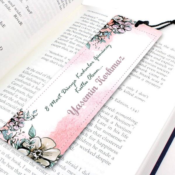 Kadınlar Günü Temalı Kitap Okuma Ayracı