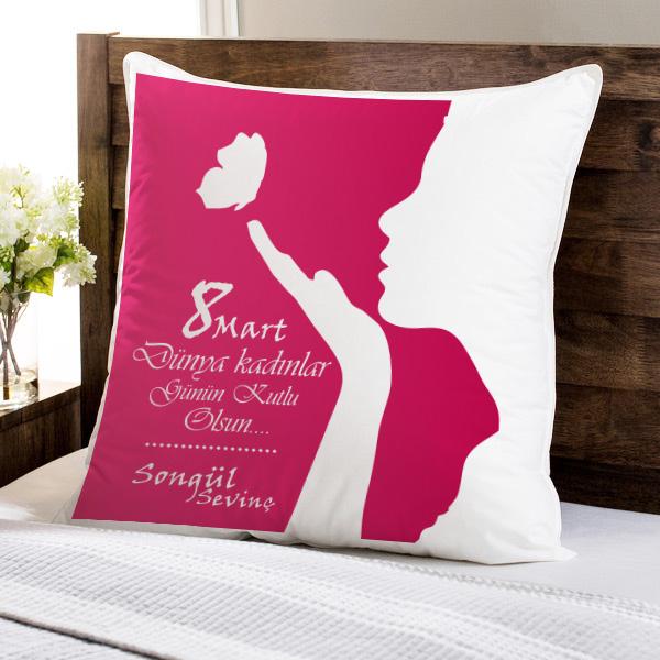 Kadınlar Günü Temalı Yastık