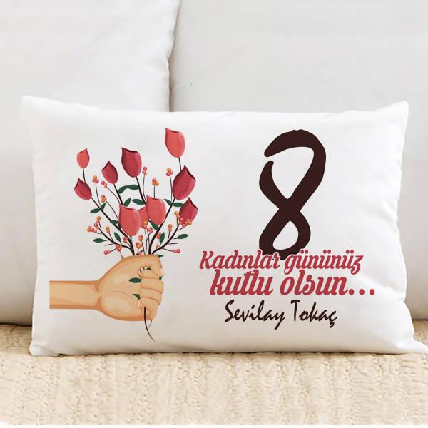 Kadınlar Günün Kutlu Olsun İsimli Yastık