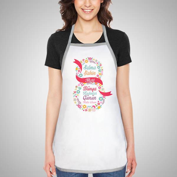 Kadınlar Günün Kutlu Olsun Mutfak Önlüğü