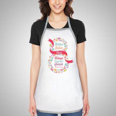 - Kadınlar Günün Kutlu Olsun Mutfak Önlüğü