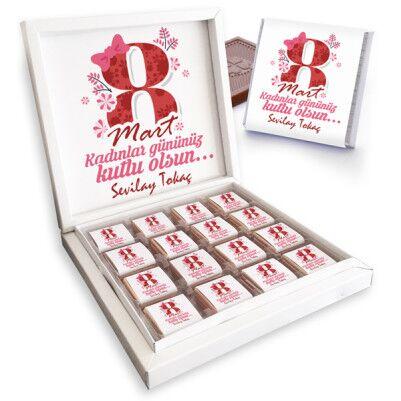 - Kadınlar Gününe Özel Çikolata Kutusu