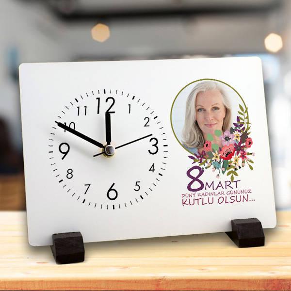 Kadınlar Gününe Özel Mesajlı Masa Saati