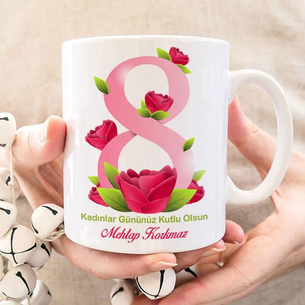 Kadınlar Gününüz Kutlu Olsun Bardağı