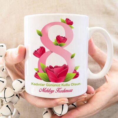 - Kadınlar Gününüz Kutlu Olsun Bardağı