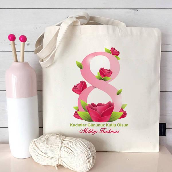 Kadınlar Gününüz Kutlu Olsun Temalı Çanta