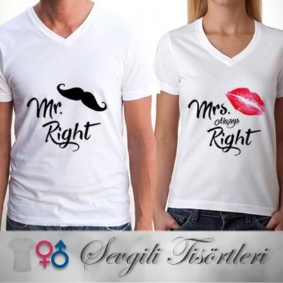 - Kadınlar Her Zaman Haklıdır Sevgili Tişörtü