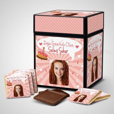 Kadınlar İçin Çikolatalı Doğum Günü Kutusu - Thumbnail