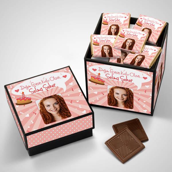 Kadınlar İçin Çikolatalı Doğum Günü Kutusu