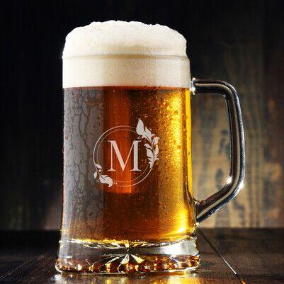 - Kadınlara Hediye Harfli Bira Bardağı