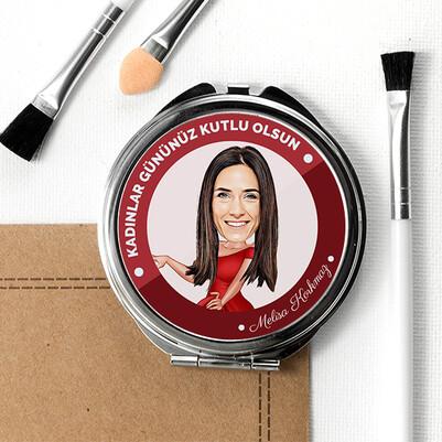 Kadınlara Özel Karikatürlü Makyaj Aynası - Thumbnail