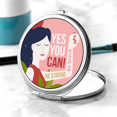 - Kadınların Gücü Tasarım Makyaj Aynası