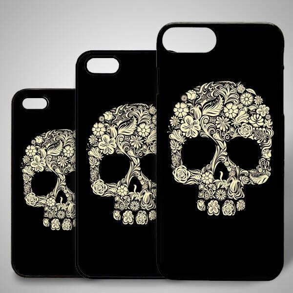 Kafatası Temalı iPhone Telefon Kapağı