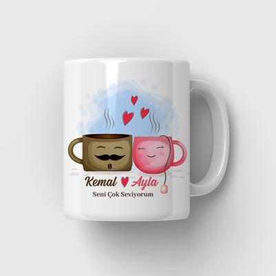 - Kahve Aşkı Romantik Kupa Bardak