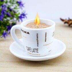 Kahve Fincanı Şeklinde Mum - Thumbnail