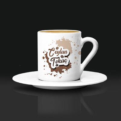 - Kahve Tasarımlı İsme Özel Fincan