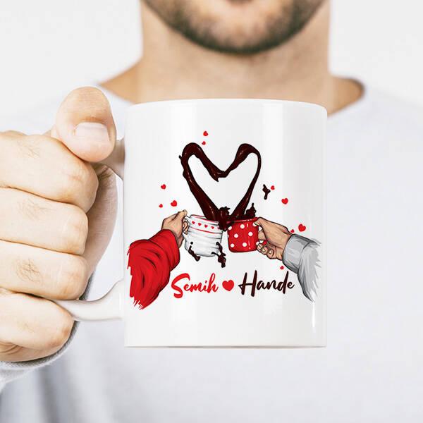 Kahvemizi Aşkla İçelim Kupa Bardak