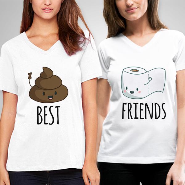 Kaka ve Tuvalet Kağıdı Arkadaşlık Tişörtü