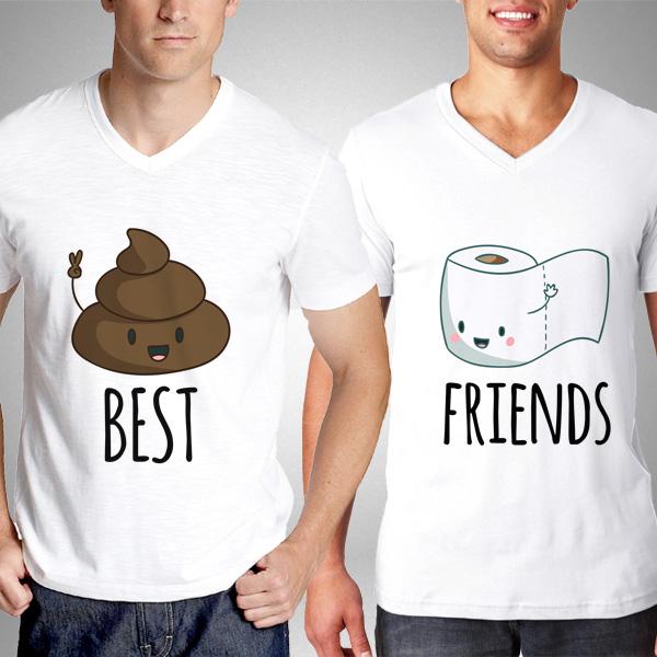 Kaka ve Tuvalet Kağıdı Erkek Arkadaş Tişörtleri