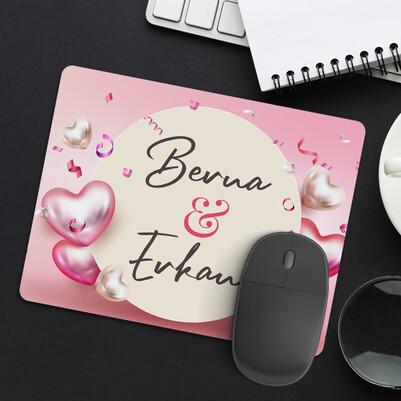 Kalbim Her An Seninle İsimli Mousepad - Thumbnail