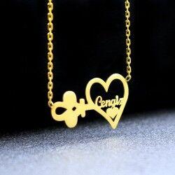 - Kalbimin Anahtarı Bayan Kolyesi