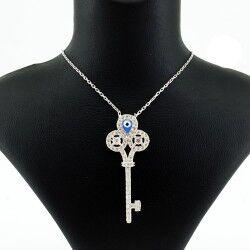 Kalbimin Anahtarı Gümüş Kolye - Thumbnail