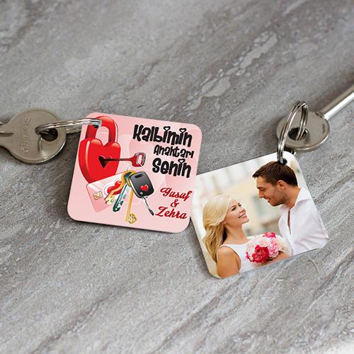 Kalbimin Anahtarı Sensin Resimli Anahtarlık