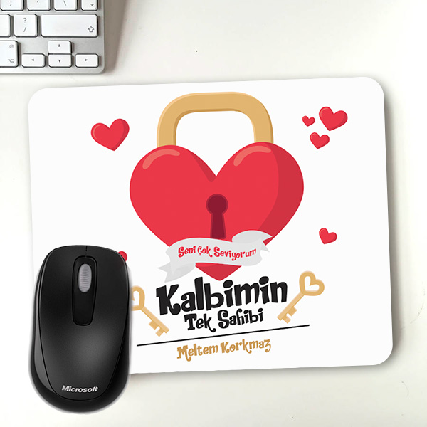 Kalbimin Sahibi Sevgililere Özel Mousepad
